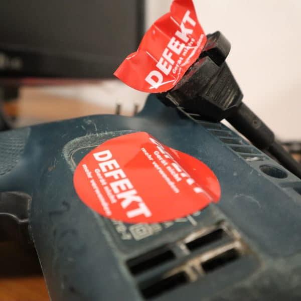 Prüfbetrieb defektes Gerät, Fehlerquote