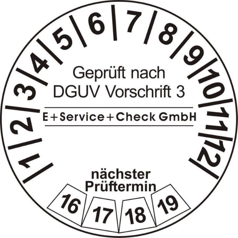 Prüfmarke die DGUV Vorschrift 3