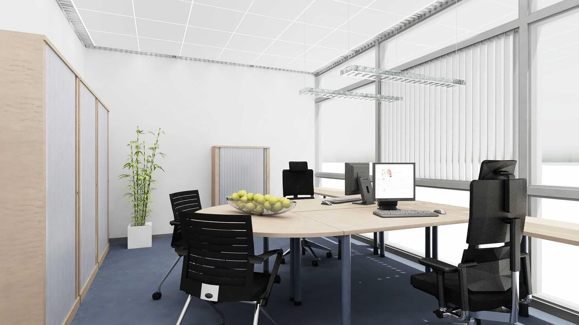 Büroarbeitsplatz mit zu prüfenden ortsveränderlichen elektrischen Betriebsmitteln