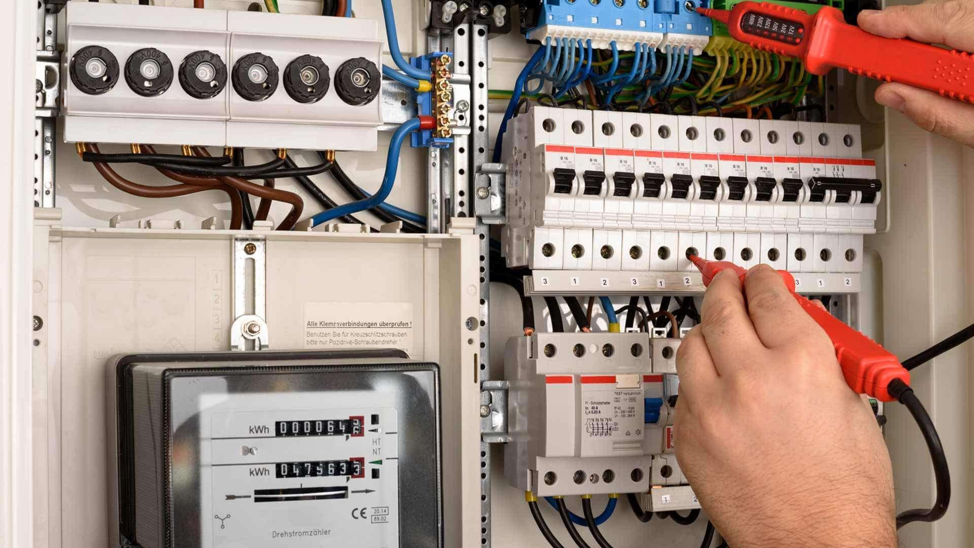 Anlagenprüfung und Stromkreisprüfung